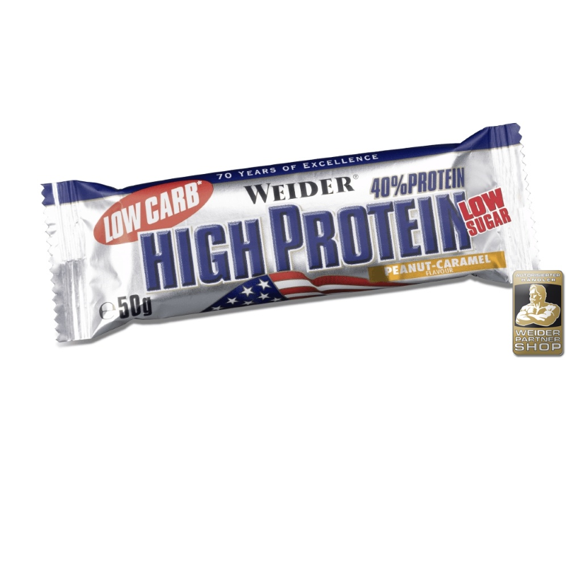 weider low carb high protein riegel display 25x50g div. Black Bedroom Furniture Sets. Home Design Ideas