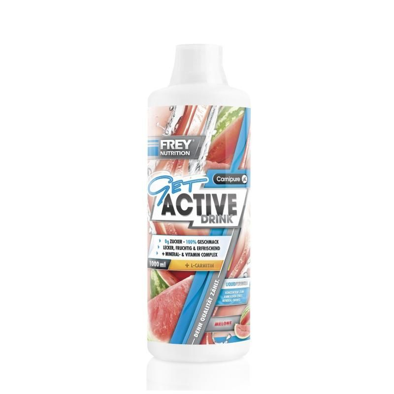 Frey Nutrition Get Active Drink 1000ml Grüne Melone