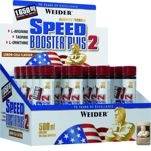 Weider Speed Booster Plus 2 - 20x25ml Ampullen Lemon-Cola
