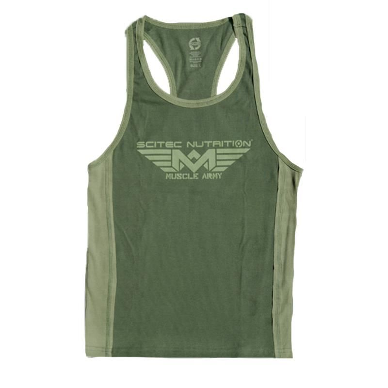 Scitec Nutrition Muscle Army Tank Top Army Green Größe M