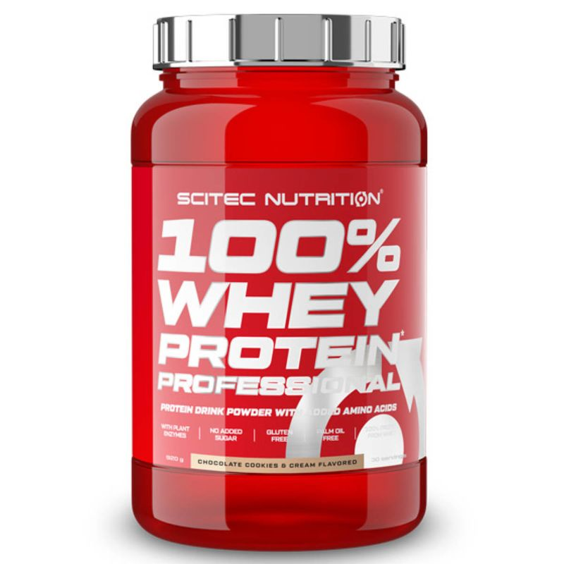 Scitec Nutrition 100% Whey Protein Professional 920g Schokolade Cookies Cream