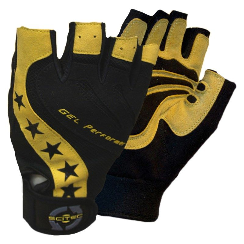 Scitec Nutrition Handschuhe Power Style Gelb