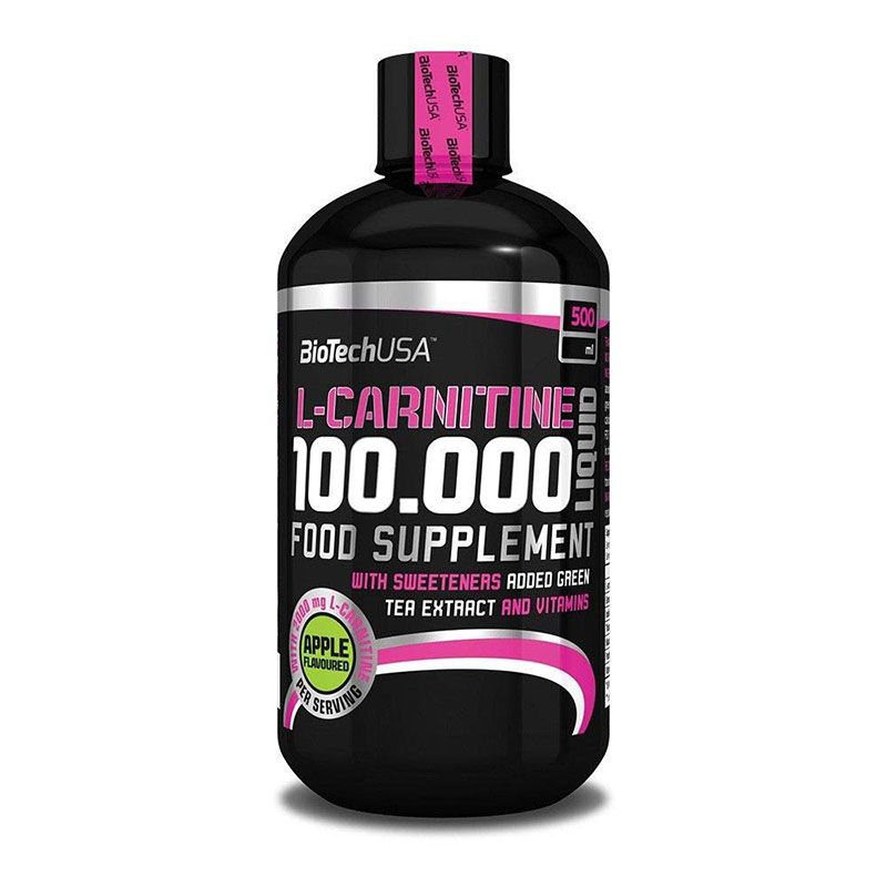Biotech USA L-Carnitine 100000 Liquid 500ml Apfel