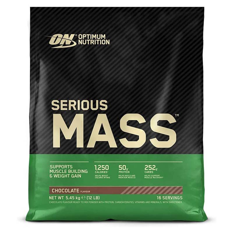 Optimum Nutrition Serious Mass 5450g Erdbeere