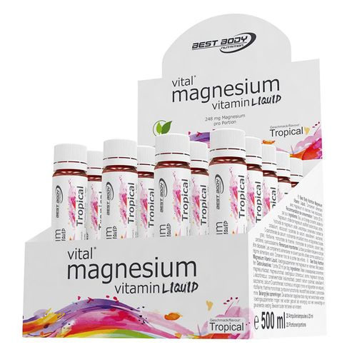 Best Body Nutrition Magnesium Vitamin Ampullen 20x25ml Tropical